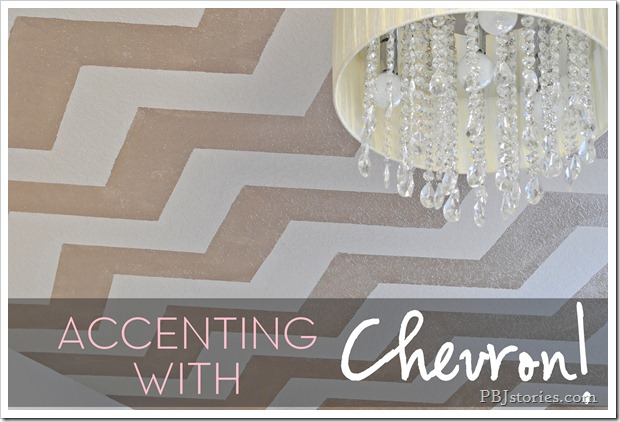PB&Jstories Nursery Chevron Ceiling