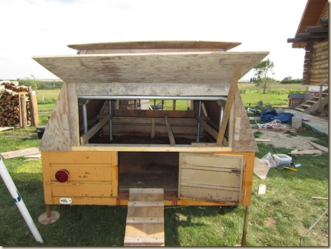 Chicken tractor and tung oil staining 043