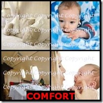 COMFORT- 4 Pics 1 Word Answers 3 Letters