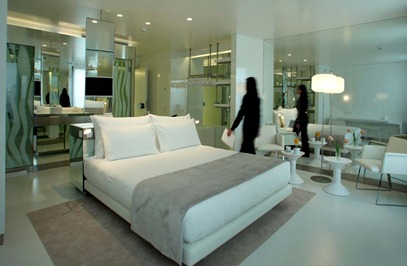 mirror hotel barcelona interior design contemporary white decor travel