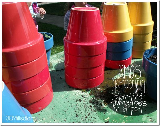 RMGS gardening pots
