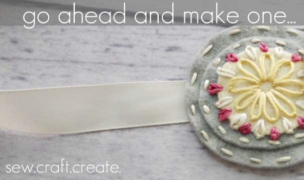 DIY Medallion Felt Headband