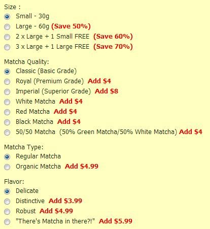 Red Leaf Tea Eggnog Matcha Options