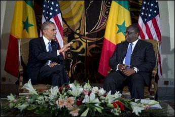 Barack Obama e o presidente do Senegal, Macky Sall