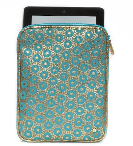 Stephanie Johnson Mumbai Turqoise iPad case. (stephaniejohnson.com)