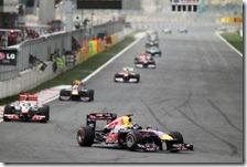 Vettel precede Hamilton nel gran premio della Corea 2011