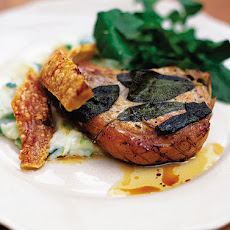 Roasted Pork Chops With Sage & Champ