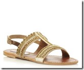 Steve Madden Gold Beaded Sandals