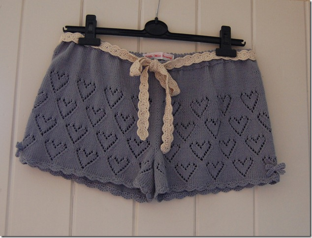 GREY SWEET HEART SHORTS