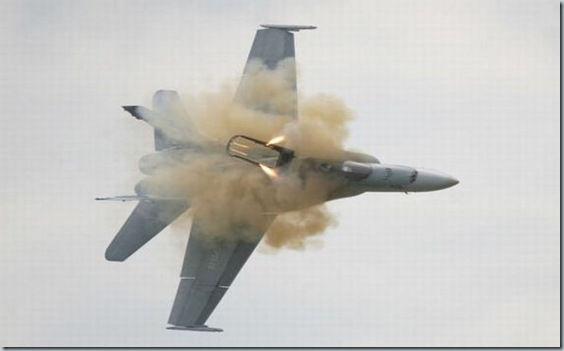 Pilot ejects from fighter plane moments before crash