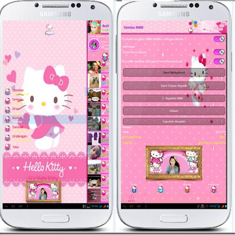 Download BBM cute HELLO KITTY full icon hello kitty