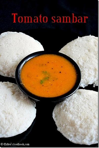 tomato sambar- idli