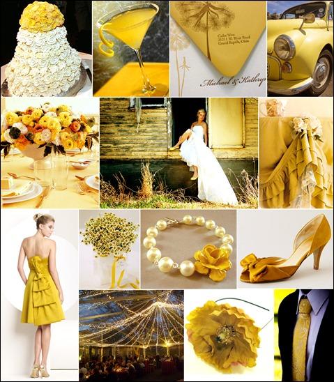 casamento amarelo decoração