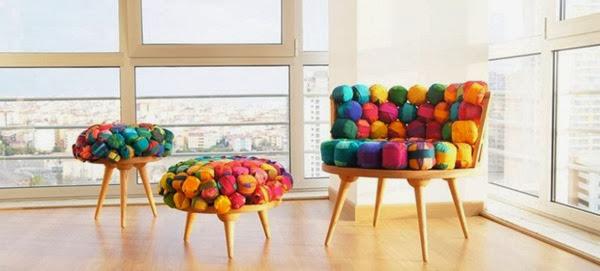 diseño de sillas con material reciclado