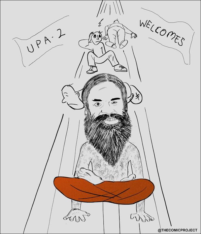 Baba Ramdev invents a new asana