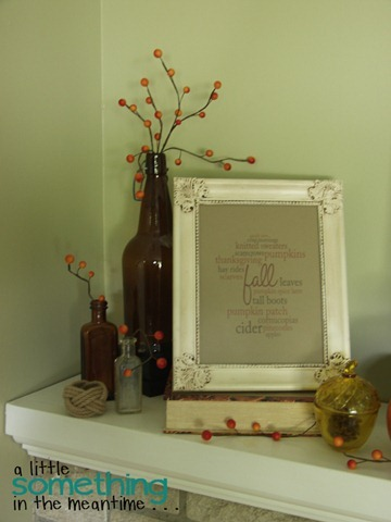 Fall 2012 Mantel  - Vignette Vertical