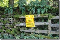 hill top walk poacher sign
