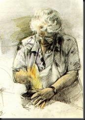 Zia cucinando - disegno