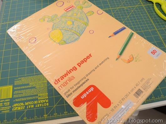 "12""x18"" manila drawing paper"