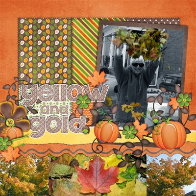 Katie Creates - Cozy Fall Days - Yellow and Gold