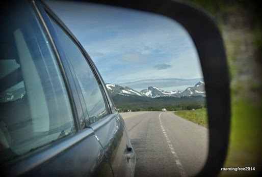 Mountains in the rear-view mirror