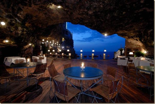 Restaurant de l'hôtel Grotta Palazzese (1)