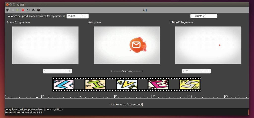 LiVES in Ubuntu Linux