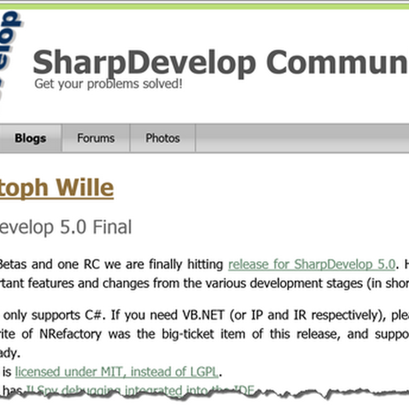 "SharpDevelop 5.0 is Final as in Final, but ""... not the final version of SharpDevelop"""