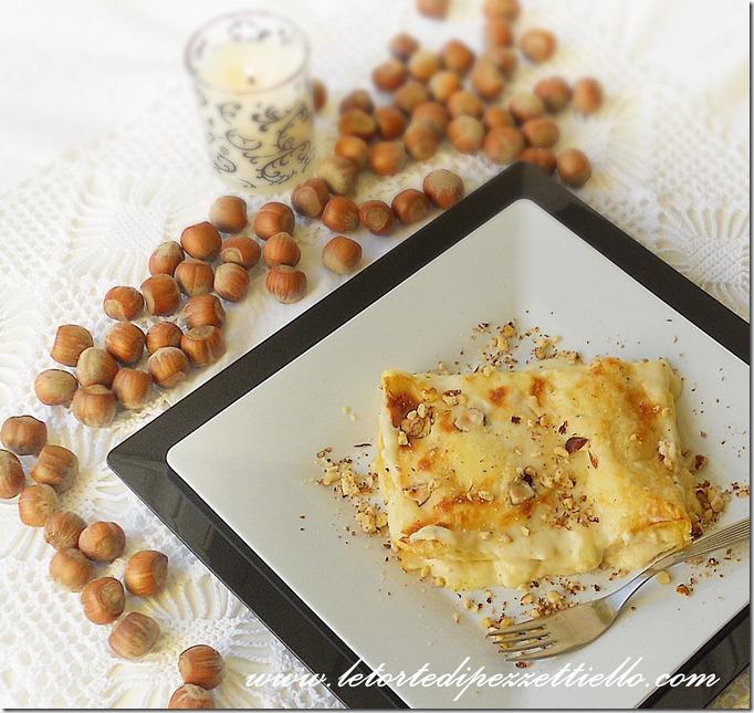 Lasagne con fontina, nocciole e tartufo