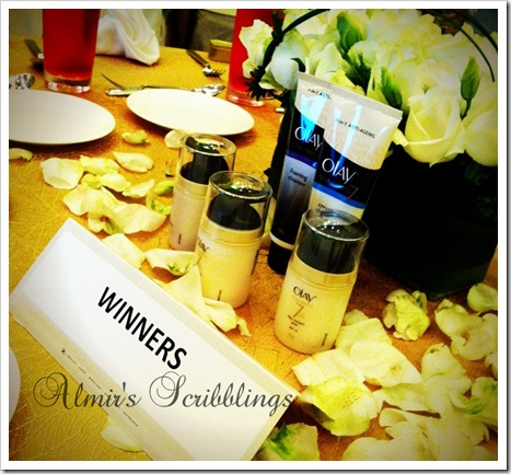 olay winners' table