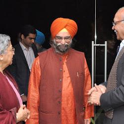 Mrs Gursharan Kaur, Roopinder Singh and Prof B N Goswamy