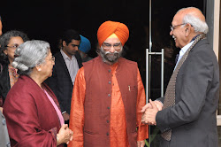 Mrs Gursharan Kaur, Roopinder Singh and Prof B N Goswamy