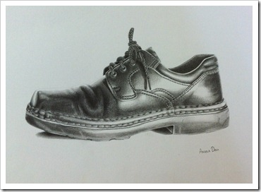 shoe well travelled drawing