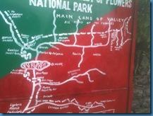 VAlley of flowers trek map