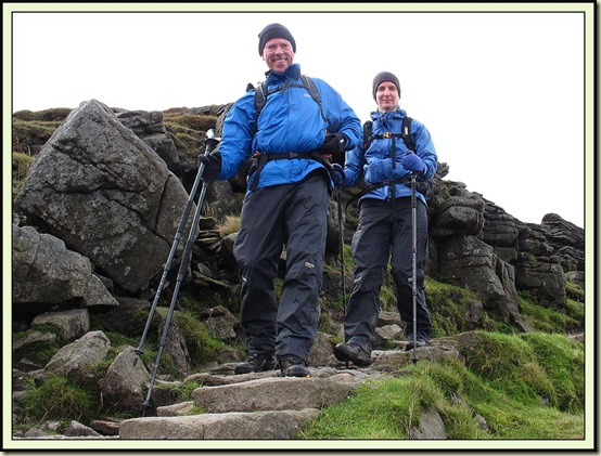 Mick and Gayle descending from Ingleborough