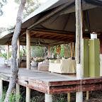 Xaranna Camp, offene Lounge © Foto: Ulrike Pârvu | Outback Africa Erlebnisreisen