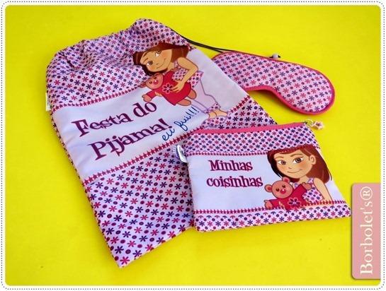 menina de pijama  borbolets7