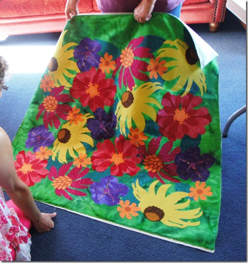 Applique Flower quilt