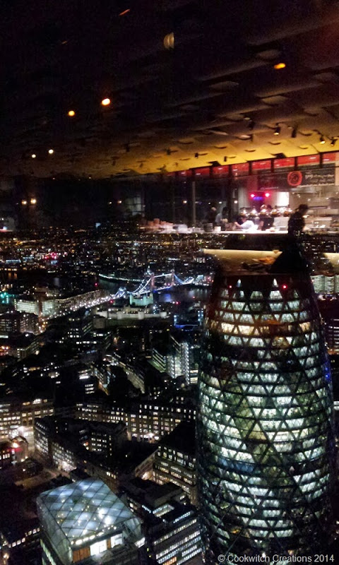 Looking down on the Gherkin