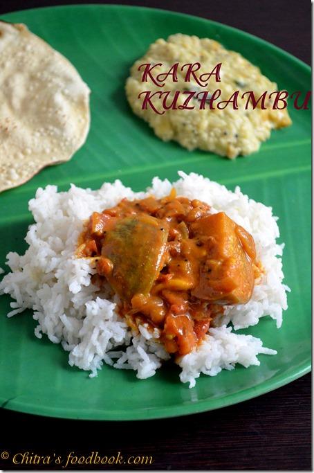 kara kuzhambu - plate