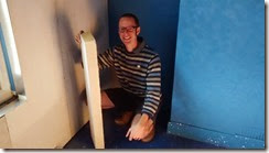 Rob with insulation board