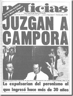 CAMPORA EXPULSADO