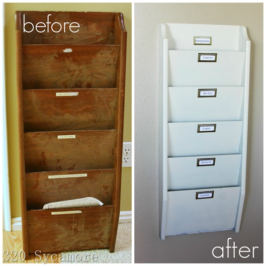 before after paper organizer