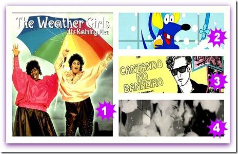 Imagem com músicas para cantar e dançar no chuveiro