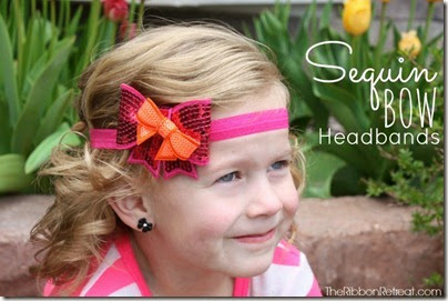 Glitter-Bow-Headbands