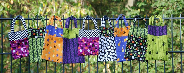 Halloween Bags on Fence