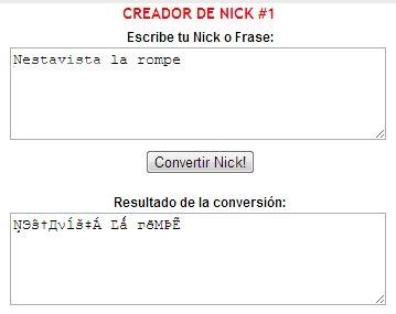 Creador de Nick para MSN