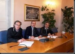 Raimondo, Torchia e Colosimo siglano il protocollo(2)