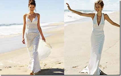 Vestidos sencillos de novia sin mangas 2011