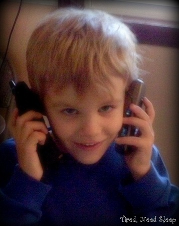 calling and talking to himself